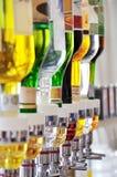 Botellas del alcohol Imagen de archivo libre de regalías
