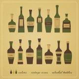 Botellas del alcohol Foto de archivo libre de regalías