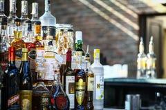 Botellas del alcohol Imágenes de archivo libres de regalías