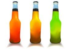 Botellas del coctel. ilustración del vector