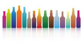 Botellas del color stock de ilustración