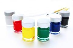Botellas del color de cartel Fotografía de archivo libre de regalías