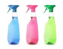 Botellas del espray del color Fotografía de archivo