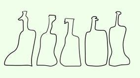 Botellas del esquema del vector Imágenes de archivo libres de regalías
