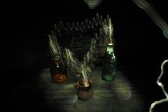 Botellas del humo Fotos de archivo libres de regalías