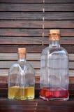 Botellas del licor Imagenes de archivo