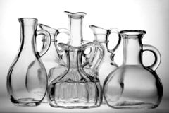 Botellas del petróleo y del vinagre Imagen de archivo