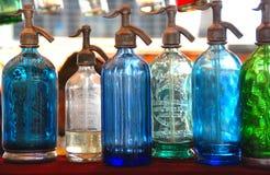Botellas del Seltzer imágenes de archivo libres de regalías