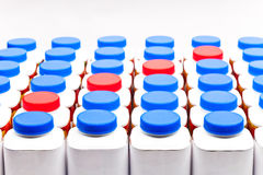 Botellas del yogur Foto de archivo libre de regalías