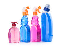 Botellas detergentes Foto de archivo