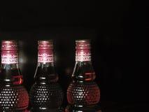 Botellas en fila Fotografía de archivo libre de regalías