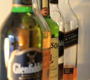 Botellas en fila Fotografía de archivo