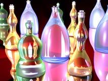 Botellas llamativas 1 Imágenes de archivo libres de regalías