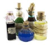 Botellas mágicas foto de archivo