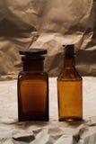 Botellas médicas Fotos de archivo libres de regalías