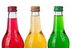 Botellas mojadas frías Fotografía de archivo libre de regalías