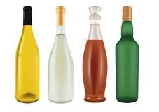 Botellas para el champán, la cerveza, el vino y el licor Ilustración del Vector