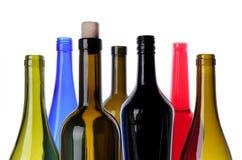 Botellas para el vino Imágenes de archivo libres de regalías