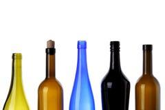 Botellas para el vino Fotos de archivo libres de regalías