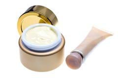 Botellas para los cosméticos fotografía de archivo libre de regalías
