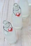 Botellas pasadas de moda de la limonada Fotografía de archivo libre de regalías