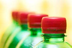 Botellas plásticas Imágenes de archivo libres de regalías
