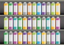 Botellas plásticas stock de ilustración