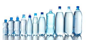 Botellas plásticas del grupo de agua Imagen de archivo