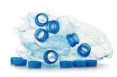 Botellas plásticas del policarbonato vacío de mineral Fotografía de archivo libre de regalías