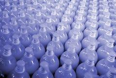 Botellas plásticas - textura Fotografía de archivo