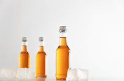 Botellas selladas con la bebida del refresco dentro Fotografía de archivo libre de regalías