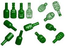 Botellas verdes Fotografía de archivo libre de regalías
