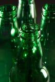 Botellas verdes Fotos de archivo