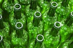 Botellas verdes Foto de archivo