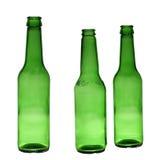 Botellas verdes vacías Imagen de archivo libre de regalías