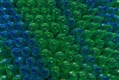 Botellas verdes y azules. libre illustration