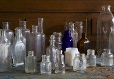 Botellas viejas Foto de archivo