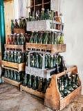 Botellas viejas Imagen de archivo libre de regalías