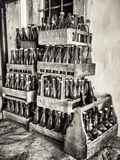 Botellas viejas Imágenes de archivo libres de regalías