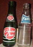 Botellas viejas de soda Imagen de archivo