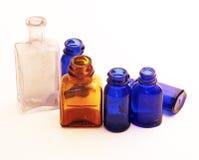 Botellas viejas del vintage Imagen de archivo libre de regalías