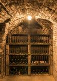 Botellas viejas en Champagne Ludes Fotografía de archivo libre de regalías