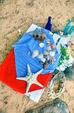 Botellas y cáscaras Foto de archivo