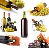 Botellas y uvas Fotografía de archivo libre de regalías