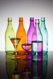 Botellas y vidrios Imagenes de archivo