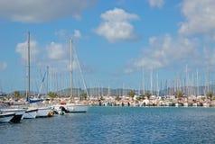 Boten in Alghero-haven Royalty-vrije Stock Fotografie