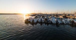 Boten in Alghero-haven stock foto