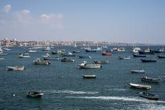 Boten bij haven royalty-vrije stock afbeelding
