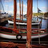 Boten bij haven Royalty-vrije Stock Afbeeldingen