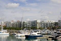 Boten bij jachthaven Royalty-vrije Stock Afbeelding